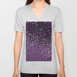 PURPLE Glitter Dream #1 #shiny #decor #art #society6 Unisex V-Neck