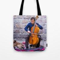 cello Tote Bags featuring Cello by Fernando Derkoski