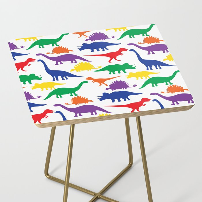 Dinosaurs - White Side Table