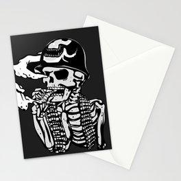 Military skeleton illustration - Soldier skull Stationery Cards