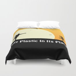 Putt Plastic In Its Place Duvet Cover