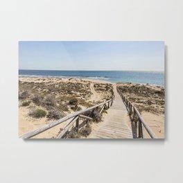 Andalusia Beach Impression  Metal Print