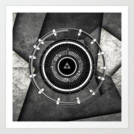 Abstract Circle Of Zelda Art Print