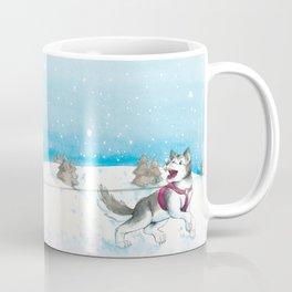 Anna and Husk in the snow Coffee Mug