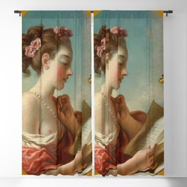 "Jean-Honoré Fragonard ""Allegory of Vigilance"" Blackout Curtain"