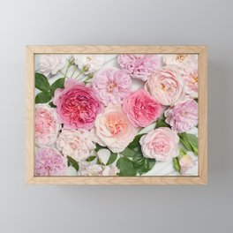 Pink Flowers Framed Mini Art Print