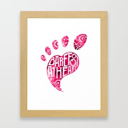 Barefoot At Heart With Foot And Toes For Yoga Class Framed Art Print