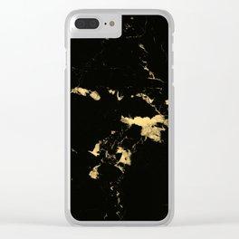 Black Marble #5 #decor #art #society6 Clear iPhone Case