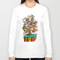 tiki Long Sleeve T-shirts featuring Tiki Island by Doctor Juanpa