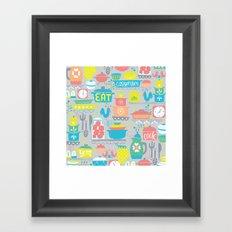 atomic kitchen Framed Art Print