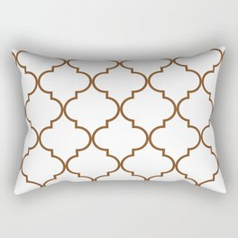 Quatrefoil - Tawny Brown Rectangular Pillow