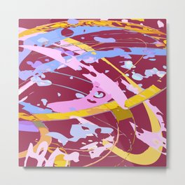 Abstract swashes Metal Print