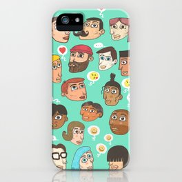 emoji talk iPhone Case