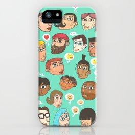 emoji talk iPhone Case
