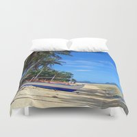philippines Duvet Covers featuring Tides Out by Michael S.