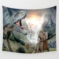 dinosaur Wall Tapestries featuring Dinosaur by giftstore2u