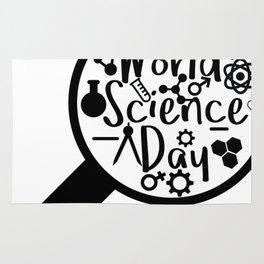 World Science Day - What make us human is our ability to ask question Rug