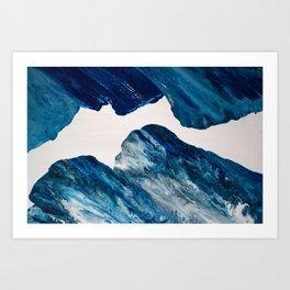 001 Indigo x Phthalo Blue Art Print
