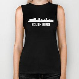 South Bend Indiana Skyline Cityscape Biker Tank