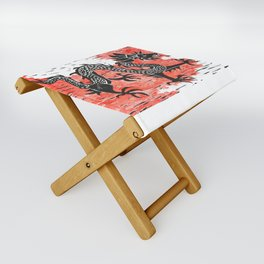 Dancing Chinese dragon Folding Stool