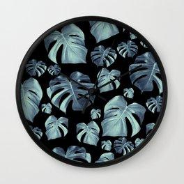 Tropical Monstera Pattern #5 #tropical #decor #art #society6 Wall Clock