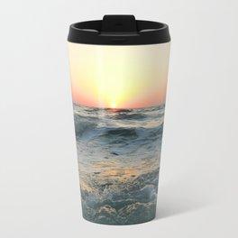 Sunsetting into Sea Travel Mug