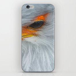 Feathers and eyelashes iPhone Skin