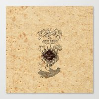 marauders Canvas Prints featuring MARAUDERS MAP by Graphic Craft