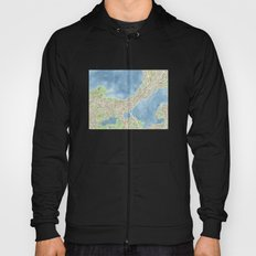 City Map Madison Wisconsin watercolor  Hoody