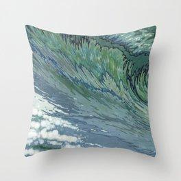 Churning Up Throw Pillow