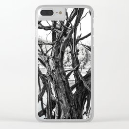 fallen tree roots Clear iPhone Case