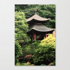 Garden tempel Canvas Print