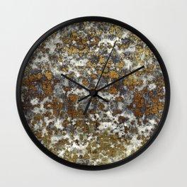 Jaguar Marble - Stone & Gold Texture Wall Clock