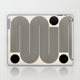 Abstraction_LINE_BLACK_DOT_VISUAL_ART_Minimlism_001A Laptop & iPad Skin