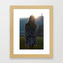 Smile. Framed Art Print