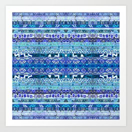 Faded Blues Art Print