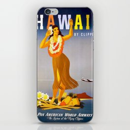 Vintage poster - Hawaii iPhone Skin
