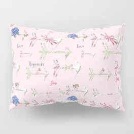 Happiness is a bouquet of shabby chic Pillow Sham