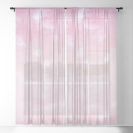 Touching Pink Coral Abstract Painting #1 #ink #decor #art #society6 Sheer Curtain