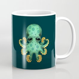 Cute Green Baby Octopus Coffee Mug