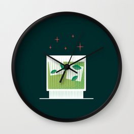 Cocktail Hour_Print 1 Wall Clock