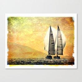 two sailboat Canvas Print