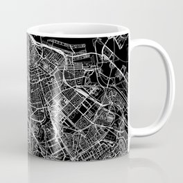 Amsterdam Black Map Coffee Mug