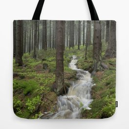 Water always flows downhill Tote Bag