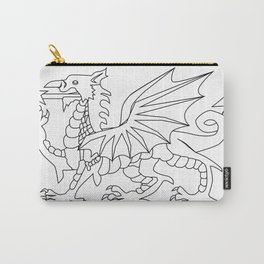Welsh Dragon Outline Carry-All Pouch