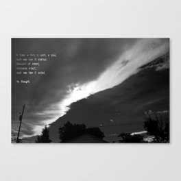 -It Started Canvas Print
