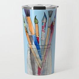 Paint Brushes Travel Mug