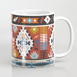 Fancy abstract geometric vector pattern in tribal style.cdr Coffee Mug
