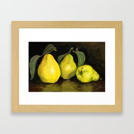 Quinces the fruit of love Framed Art Print