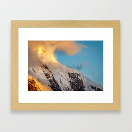 Clouds and Snow Framed Art Print